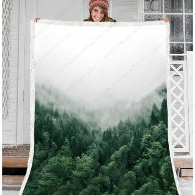 foggy forest blanket