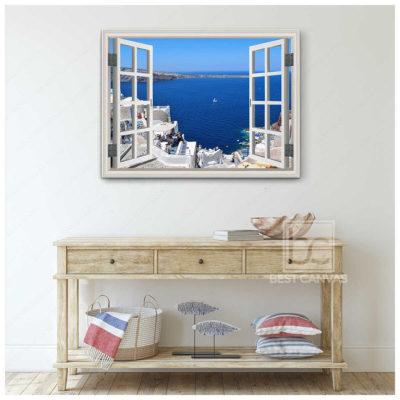 santorini landscape canvas