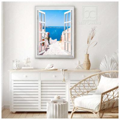 santorini scenery canvas