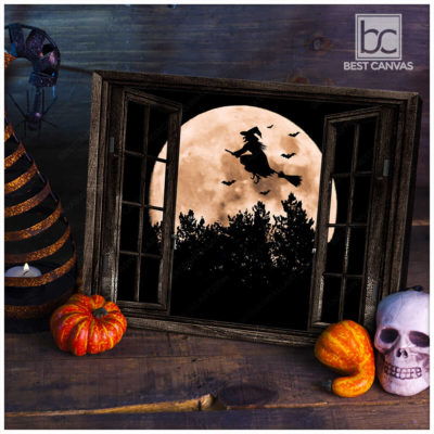 Halloween Scary Witch Wall Art